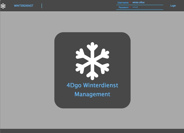 4Dgo Winterdienst Web Applikation Login